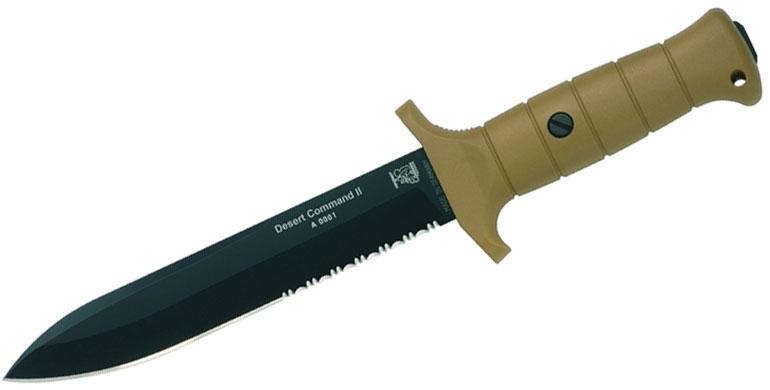 Eickhorn Solingen KM3000 Desert Command II Military Dagger 6.8 inch Bohler N695 Blade, Cordura Sheath