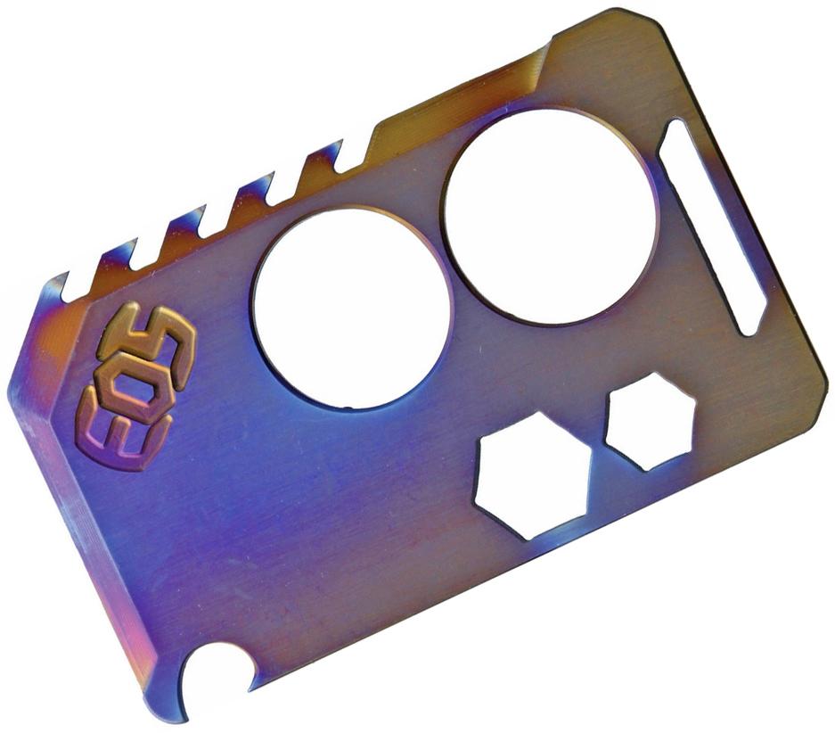 EOS Titanium Knife Card, Flamed