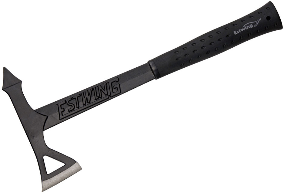 Estwing Black Eagle Tomahawk Axe, Black Rubber Handle, Black Nylon Sheath