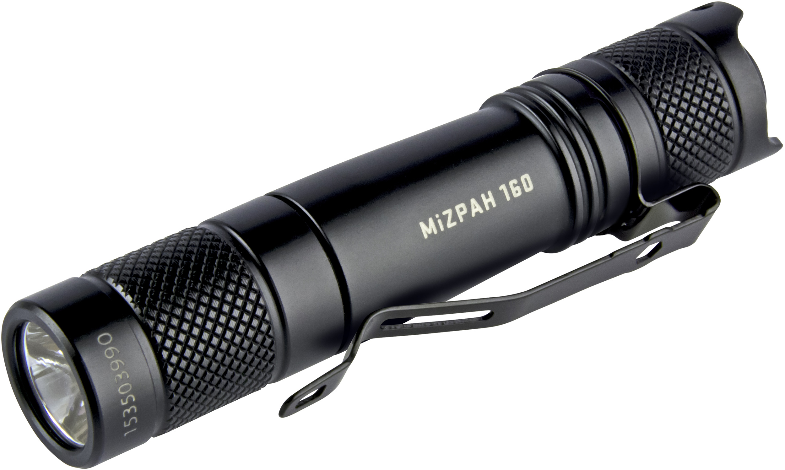 Factor Equipment FM002 MiZPAH 160 Compact LED Flashlight, Black, 160 Max Lumens