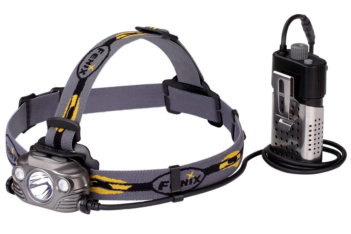 Fenix HP30R Rechargeable LED Headlamp, Gray, 1750 Max Lumens