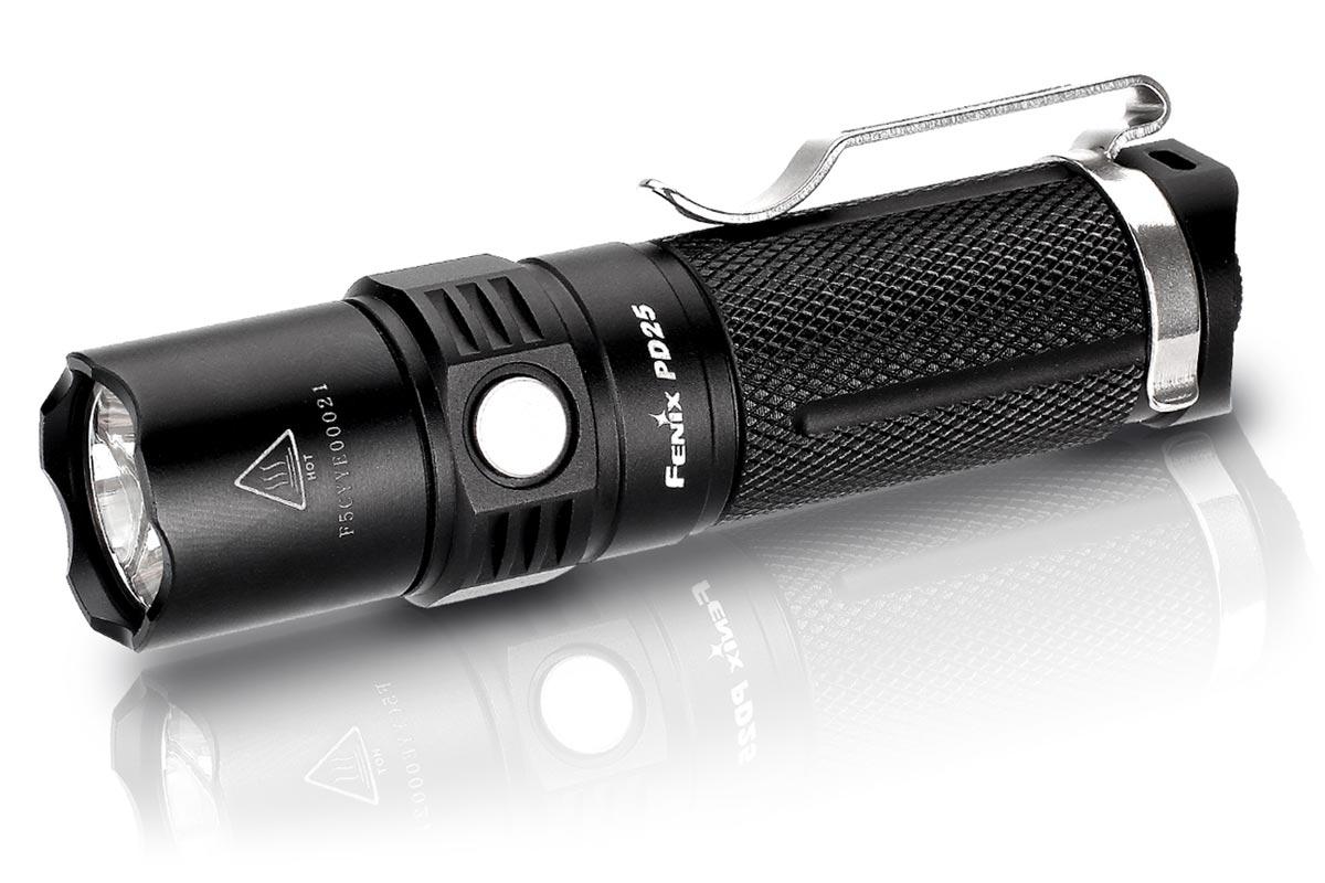 Fenix PD25 LED Flashlight, Black, 550 Max Lumens