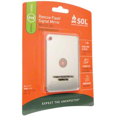 Adventure Medical Kits SOL Rescue Flash Signal Mirror 2 inch x 3 inch