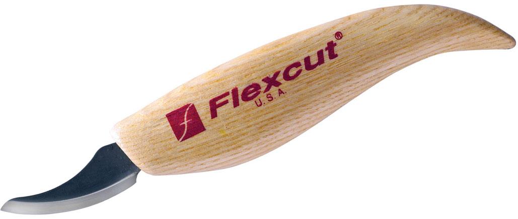 Flexcut Pelican Knife 1.625 inch Carbon Steel Blade, Ash Wood Handles