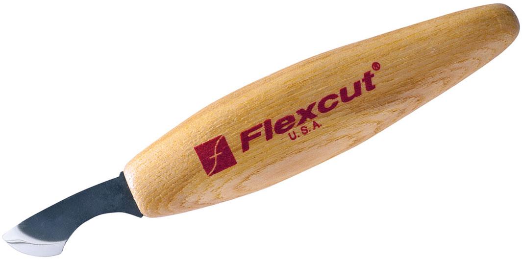 Flexcut Radius Knife 1.5 inch Carbon Steel Blade, Ash Wood Handles