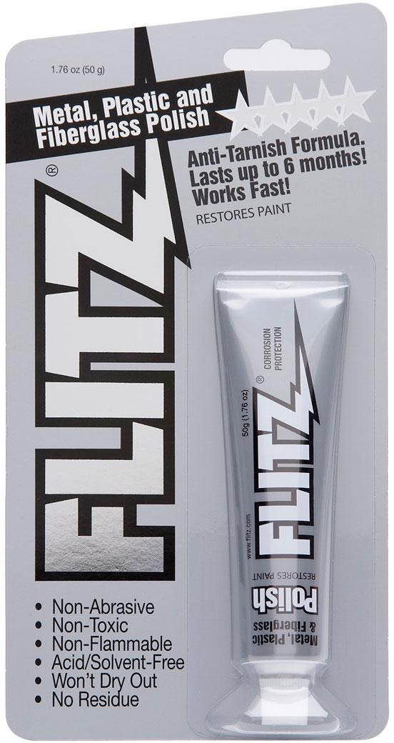 Flitz BP 03511 Metal, Plastic and Fiberglass Polish Paste - 1.76 oz. (50 g) Tube