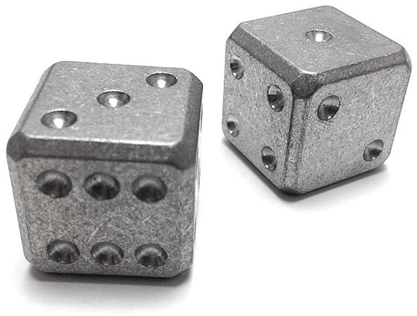 Flytanium Large Cuboid Titanium Dice, 2-Pack, Stonewashed