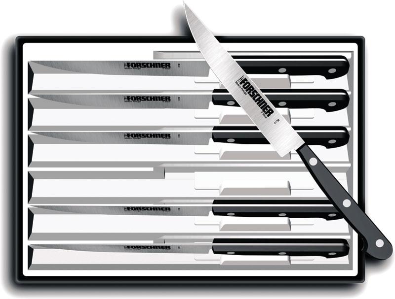 Victorinox Swiss Army Forschner 6-Piece 5 inch Steak Knife Set w/ POM Handles