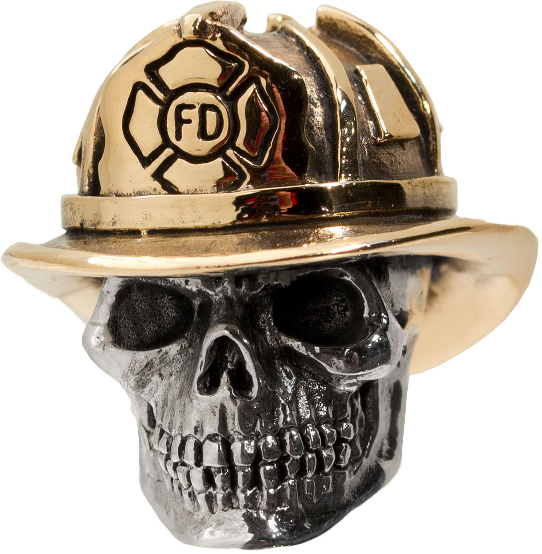 GD Skulls USA Bronze FF1 Firefighter Bead