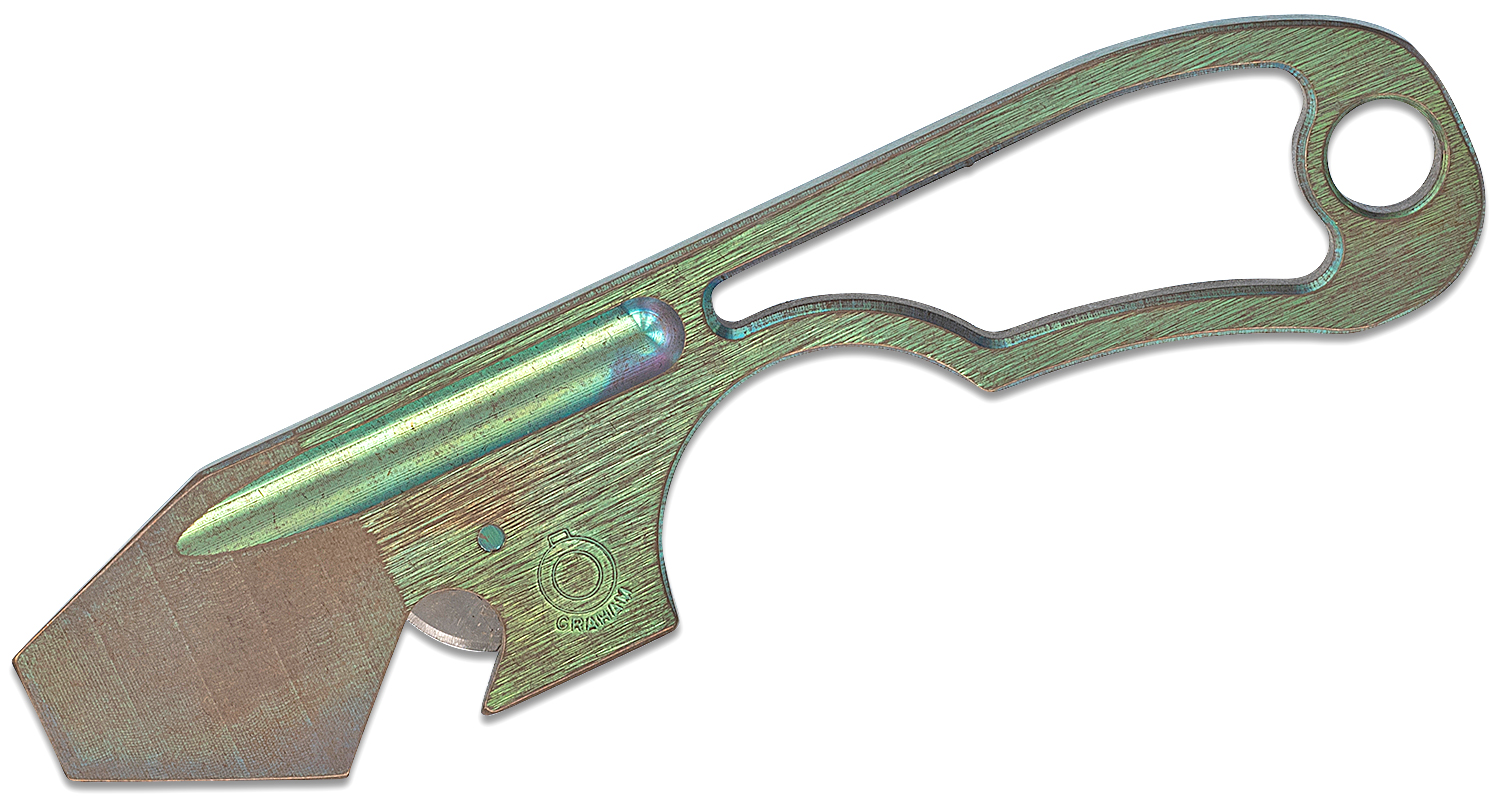 Graham Knives Wee Open Pry Tool, Bronze/Green Titanium, 4.375 inch Overall