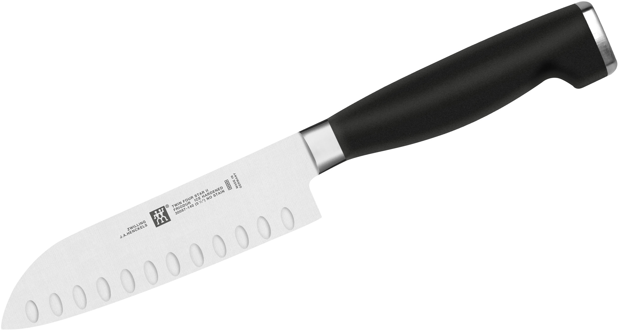 Zwilling J.A. Henckels TWIN Four Star II 5 inch Santoku Knife, Hollow Edge