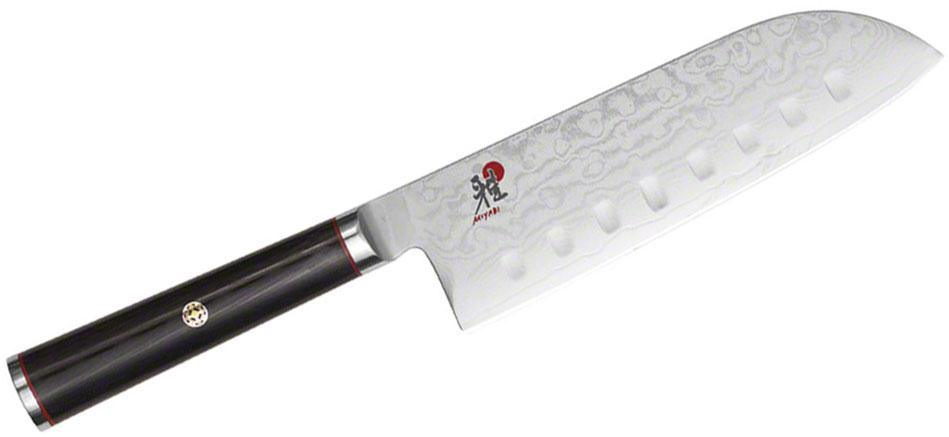 Zwilling J.A. Henckels Miyabi Kaizen 5.5 inch Santoku Knife, Hollow Edge, VG10 (CMV60) Damascus Blade, Micarta Handle