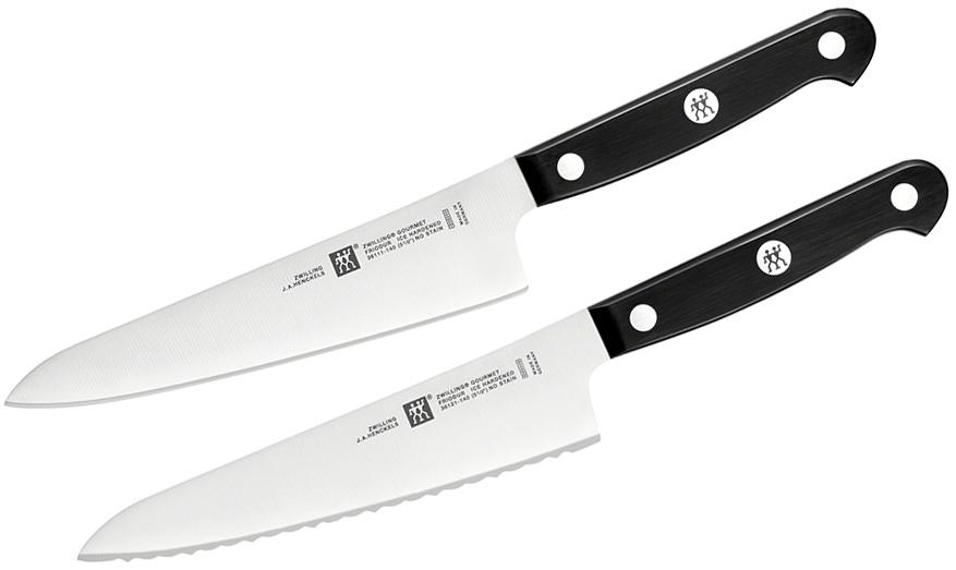 Zwilling J.A. Henckels Gourmet 2 Piece Prep Knife Set, Black POM Handles