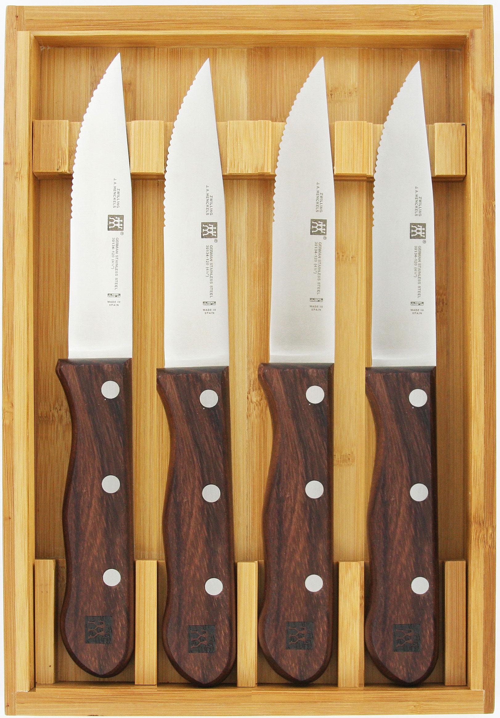 Zwilling J.A. Henckels Steakhouse 4 Piece Jumbo Steak Knife Set