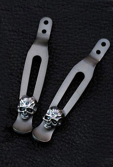 Rick Hinderer Knives Steel Flame Sterling Silver Warrior