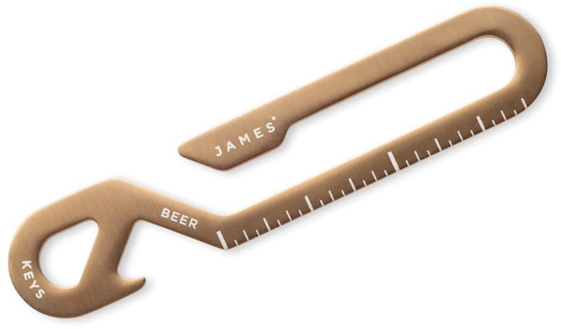 The James Brand Hook Key Loop/Bottle Opener Multi-Tool, Light Gold Stainless Steel