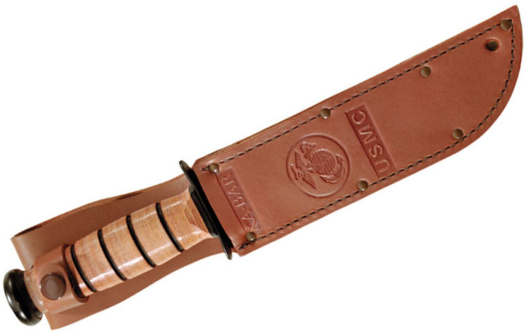 KA-BAR 1217S Full-size Brown Leather USMC Sheath