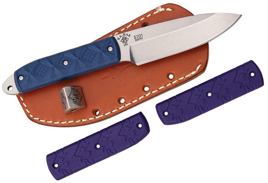 KA-BAR 5101 KBD Master Series Snody  inchBoss inch Fixed 3.5 inch S35VN Blade, Zytel Handle, JRE Leather Sheath