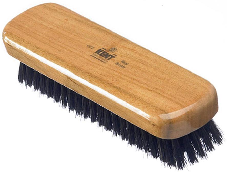 Kent Brushes CC2 Cherry Wood Pure Black Bristle Clothes Brush