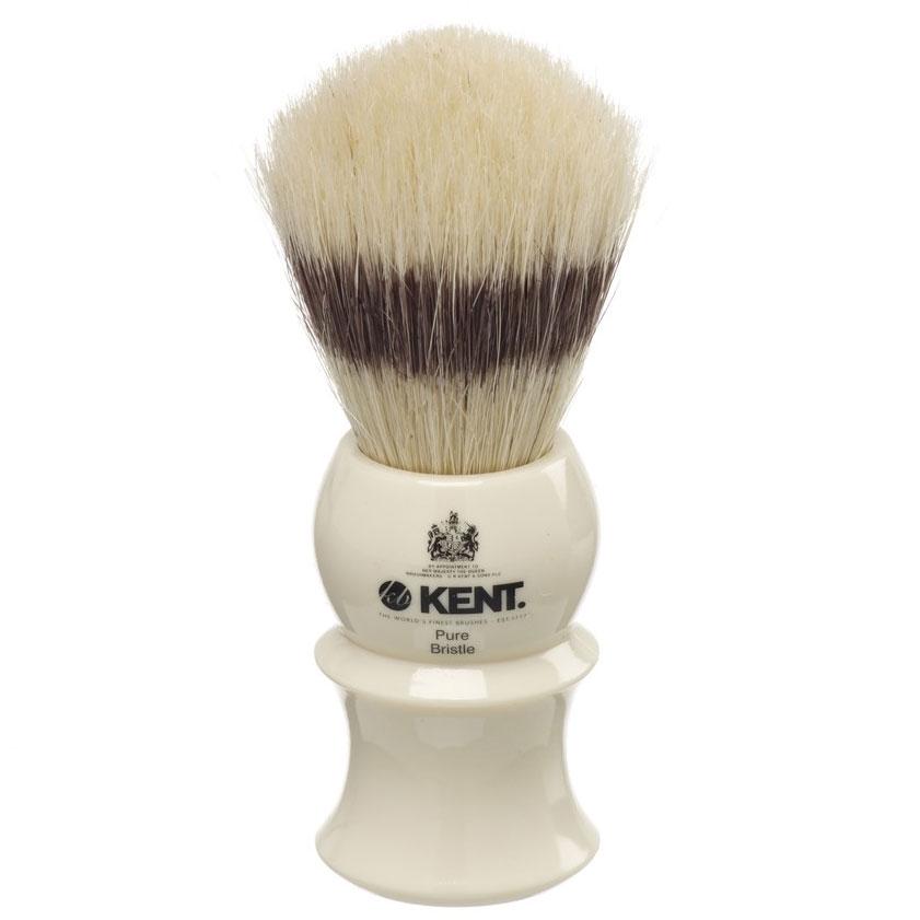 Kent Brushes VS30 Pure Bristle Badger Effect Shave Brush, Cream Handle