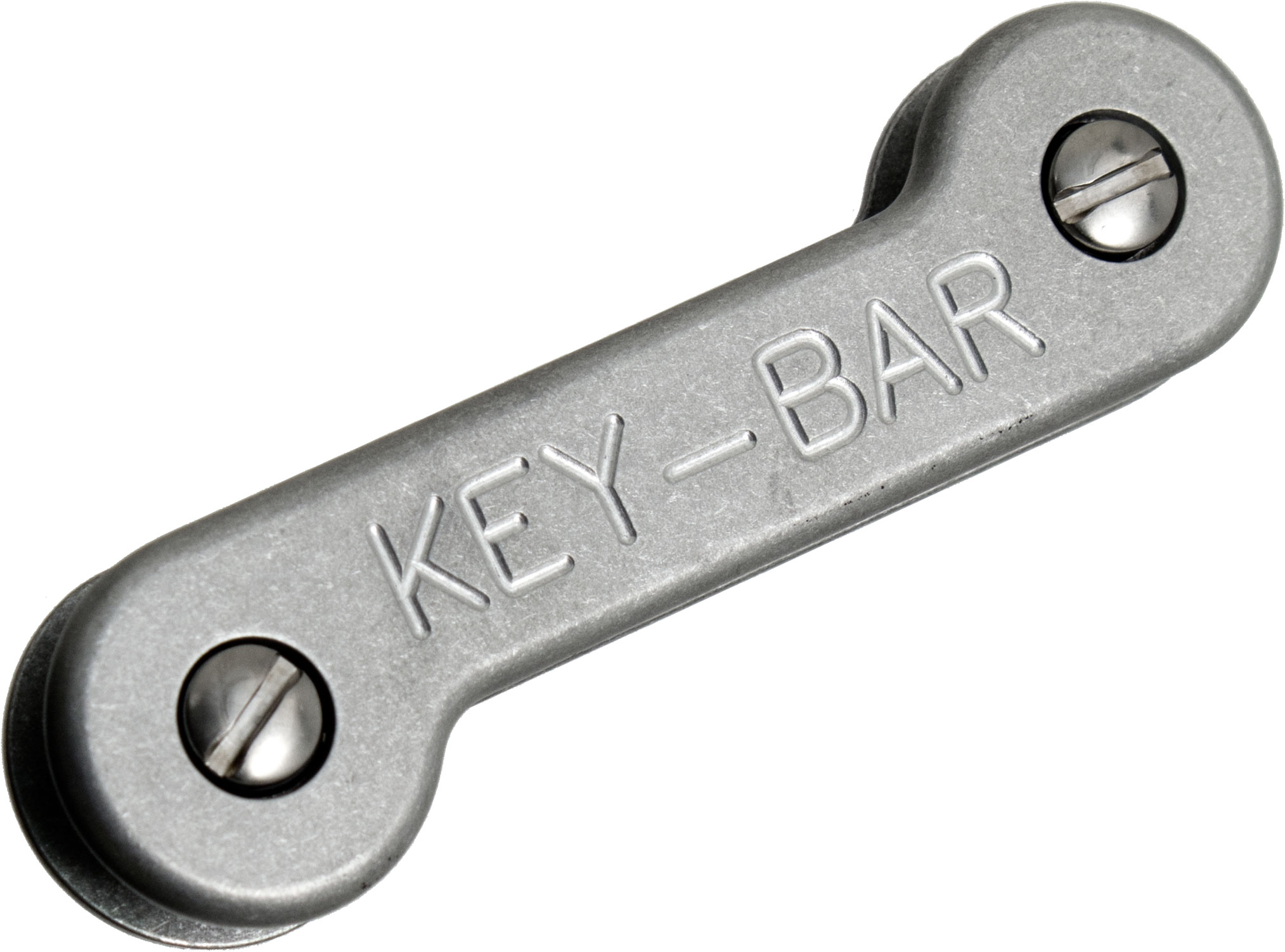 KeyBar Key Organizer Aluminum Model with Pocket Clip, Holds up to 12 Keys