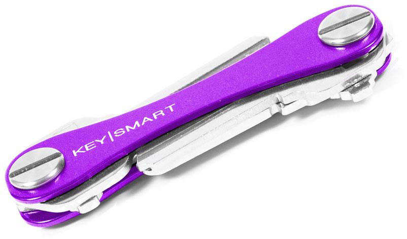 KeySmart 2.0 Purple Aluminum Key Organizer, Holds 2-8 Keys