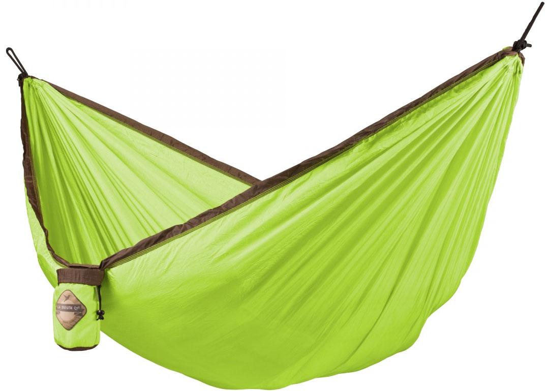 La Siesta Colibri Single Travel Hammock, Parachute Silk, Green