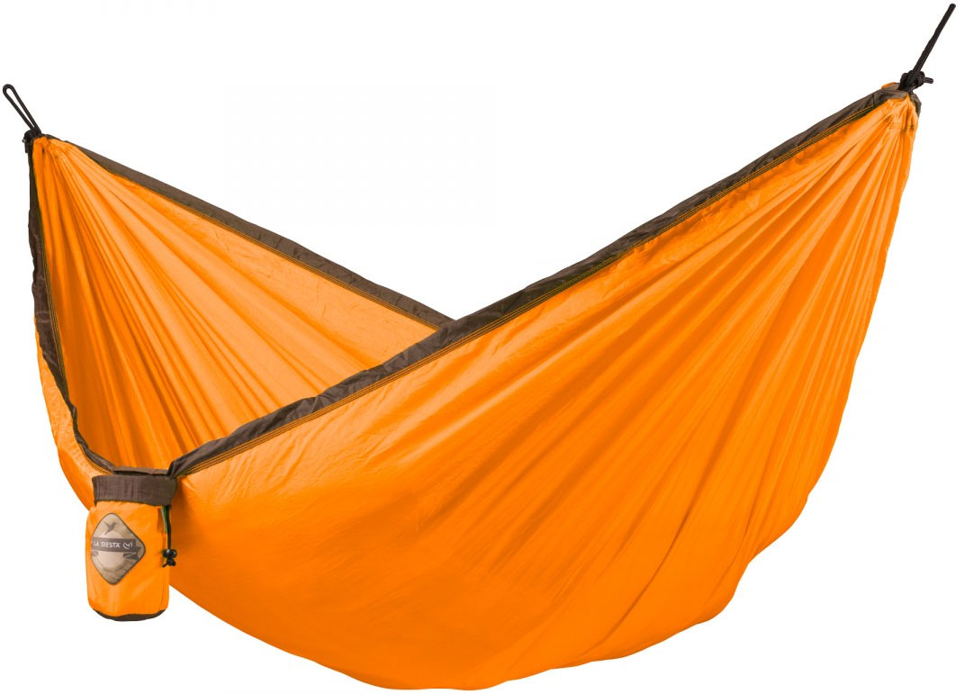 La Siesta Colibri Single Travel Hammock, Parachute Silk, Orange