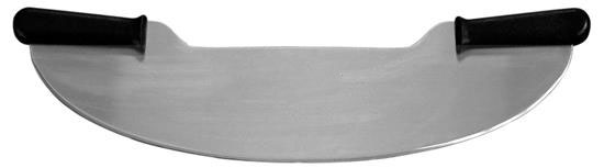 LamsonSharp USA Pro Black Poly Handles 20 inch Pizza Rocker Knife, Two-Handles (32875)