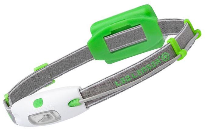 LED Lenser 880214 NEO H4 Full-Size LED Headlamp, 90 Max Lumens, Green