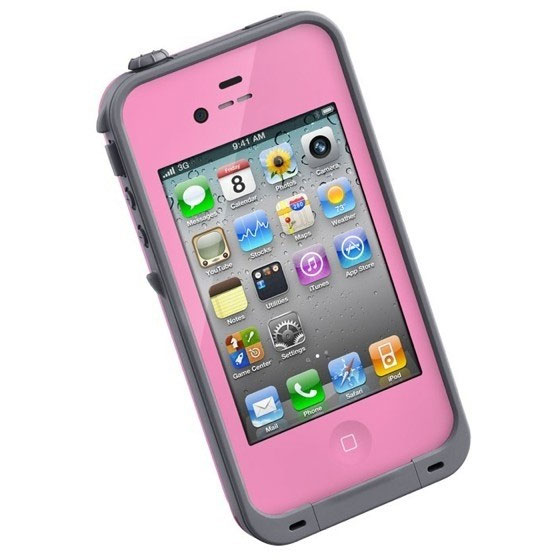 buy online 5e81d 7ff99 LifeProof Waterproof Case for the Apple iPhone 4S / 4, Pink ...