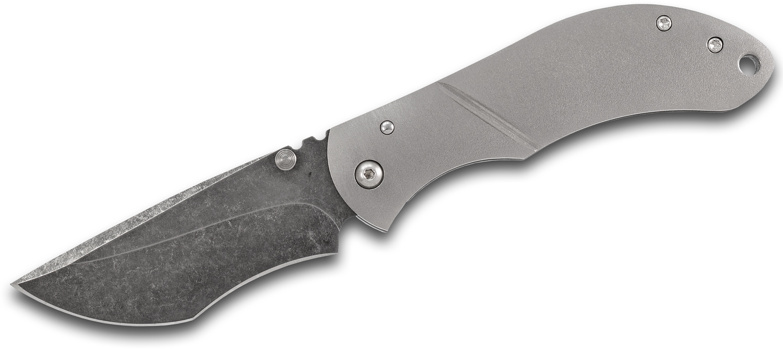 Melvin Lozada Custom Bandido 3.0 Folding Knife 3 inch CPM-3V Acid Washed Blade, Orange Peel Titanium Handles