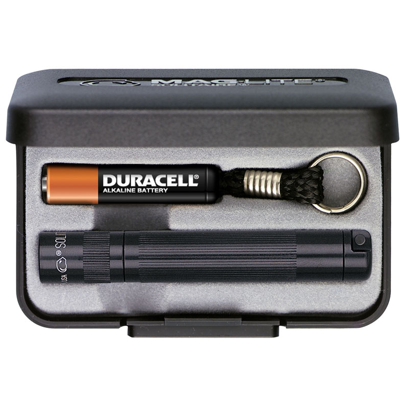 MagLite Solitaire AAA Flashlight Black Aluminum Gift Box