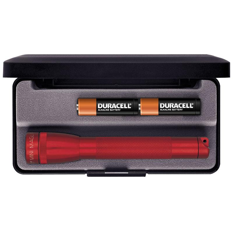 Maglite Minimag AA Flashlight in Gift Box - Red Body