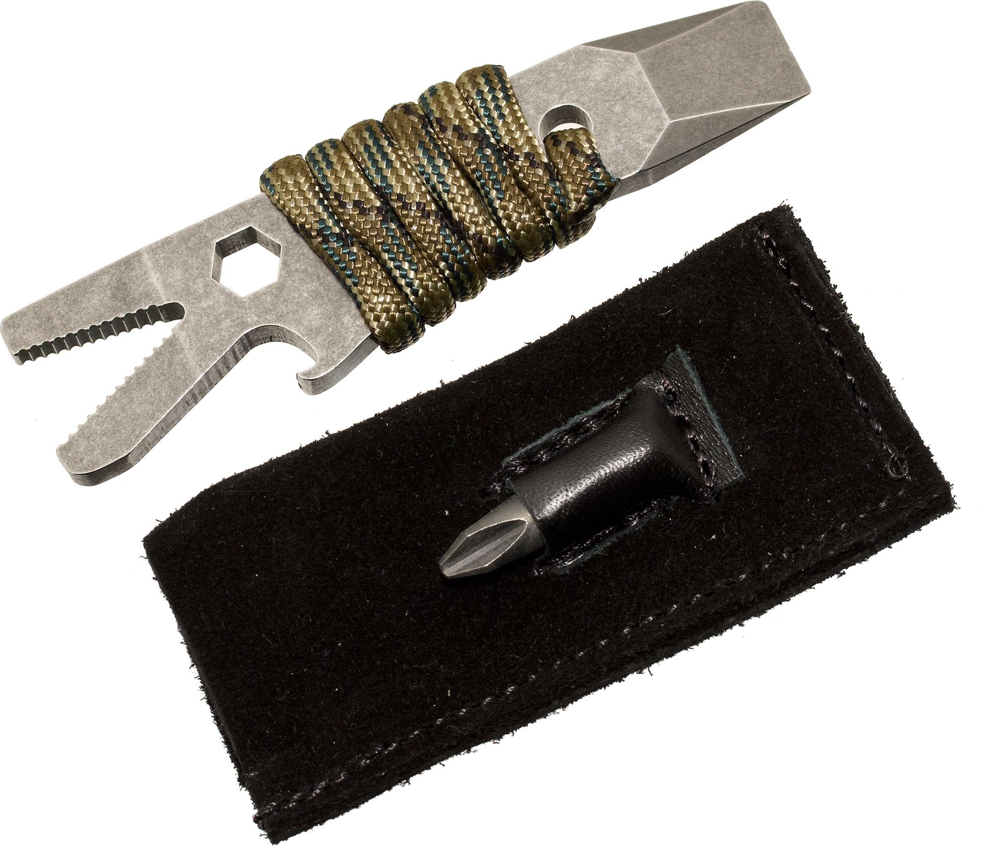 Maserin 905/FF Pocket Tool Crocodile Multifunctional Pry Tool with Sheath