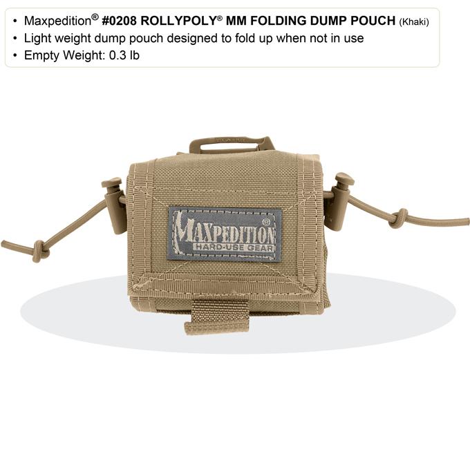 Maxpedition Rollypoly MM Folding Dump Pouch Khaki Foliage 0208KF