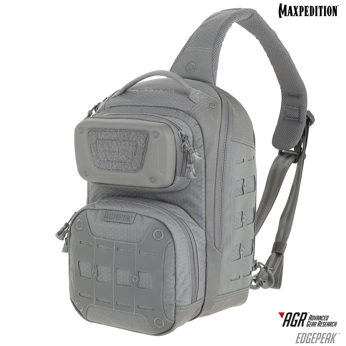 Maxpedition EDPGRY Advanced Gear Research AGR Edgepeak Ambidextrous Sling Pack, Gray