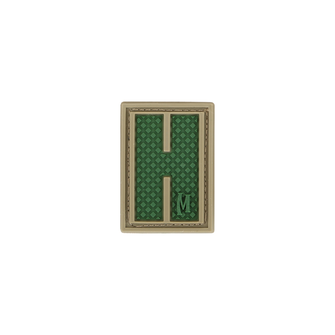 Maxpedition LETHA PVC Letter H Patch, Arid