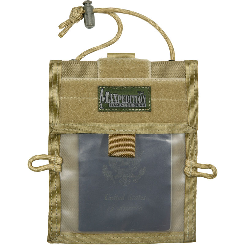 TRAVELER PASSPORT/ID CARRIER - Khaki