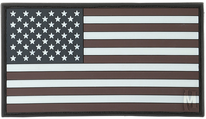 Maxpedition PVC Large USA Flag Patch, Glow