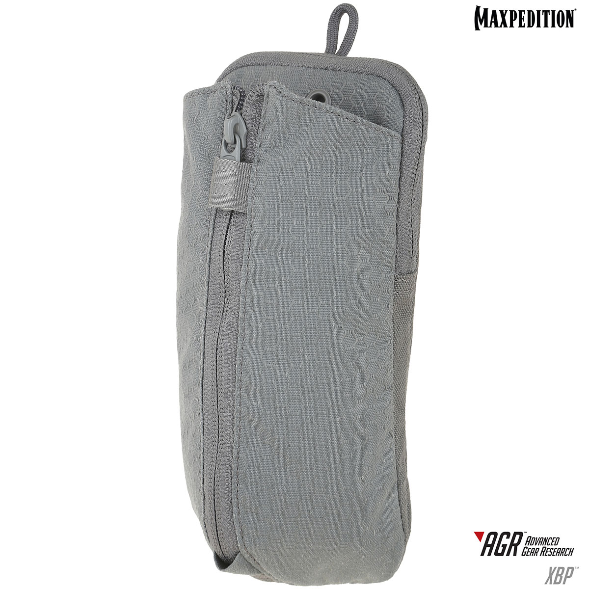 Maxpedition XBPBLK AGR Advanced Gear Research Expandable Bottle Pouch, Gray