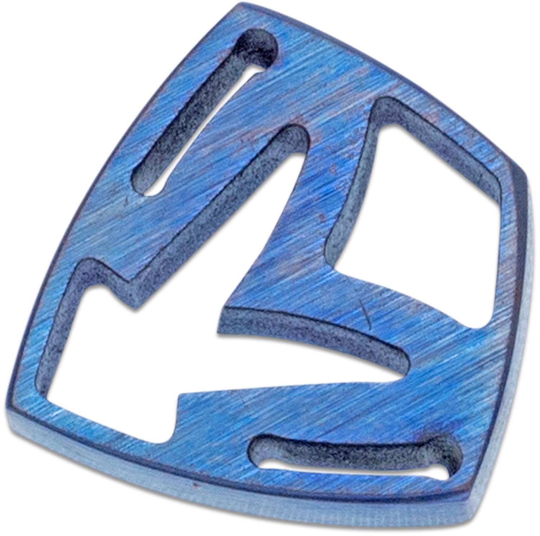 Medford Shield Titanium Crest Charm - Blue