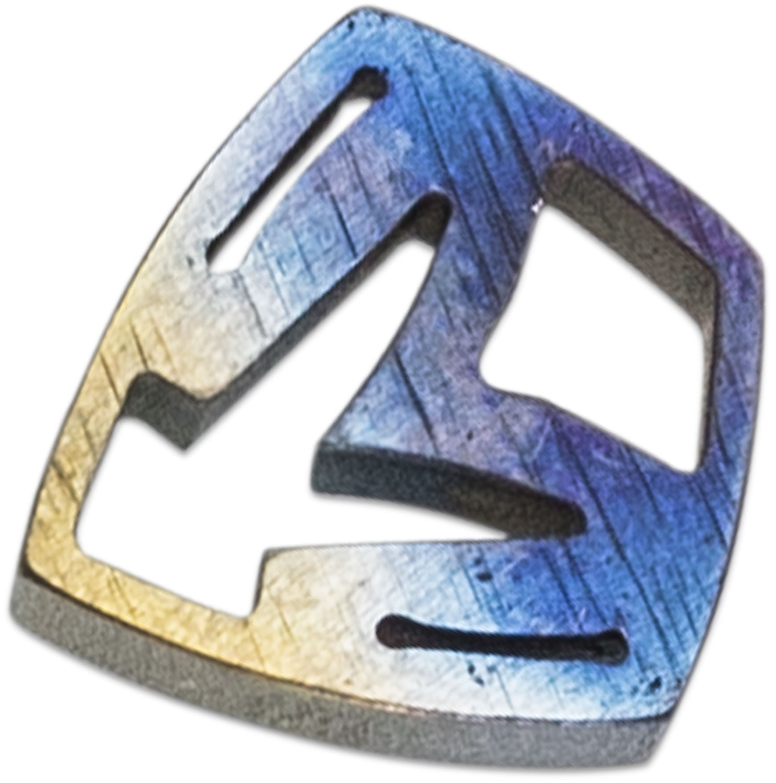 Medford Shield Titanium Crest Charm - Multi-Color