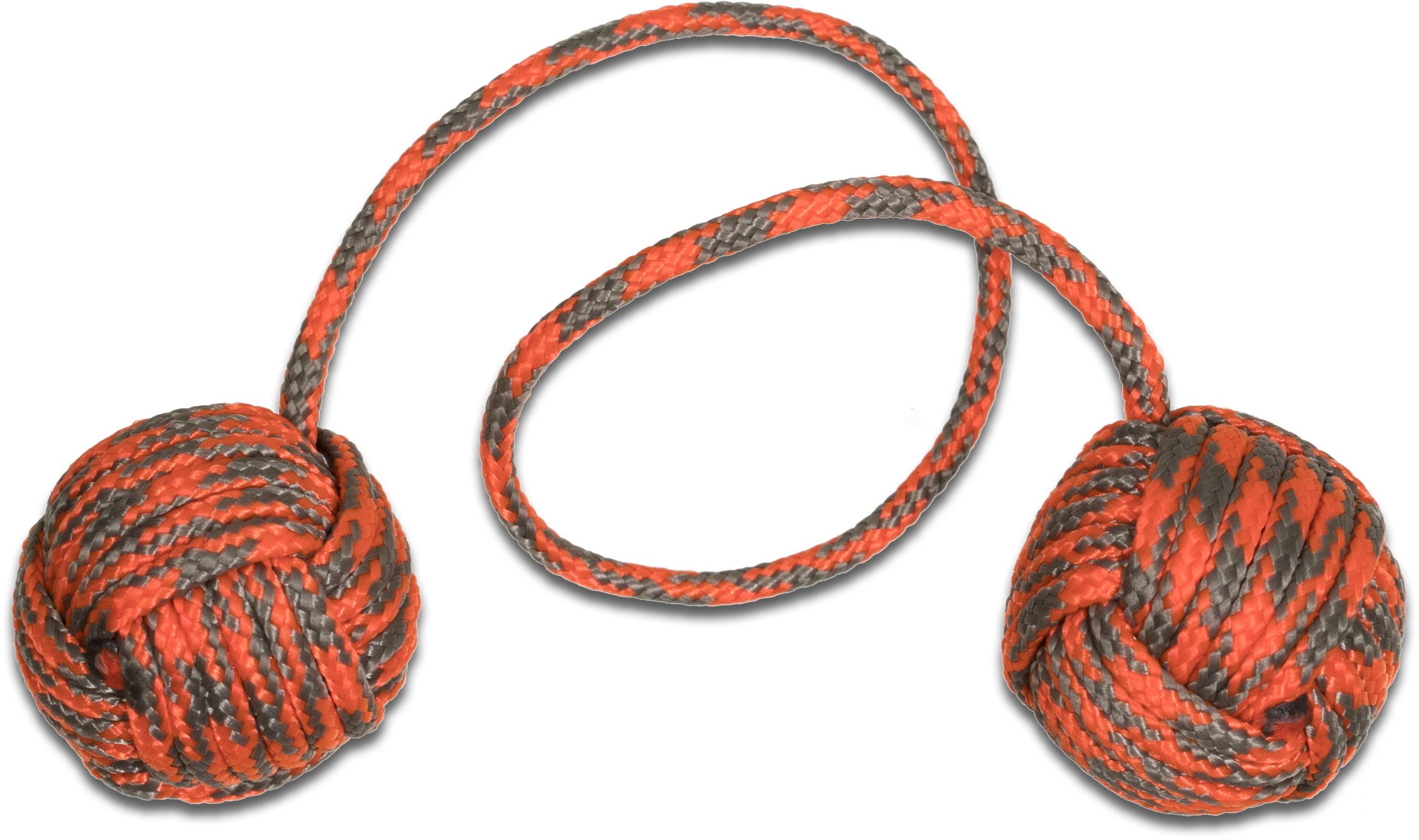 Monkey Fist Begleri KnifeCenter Exclusive 5.5 inch Orange/Gray Paracord