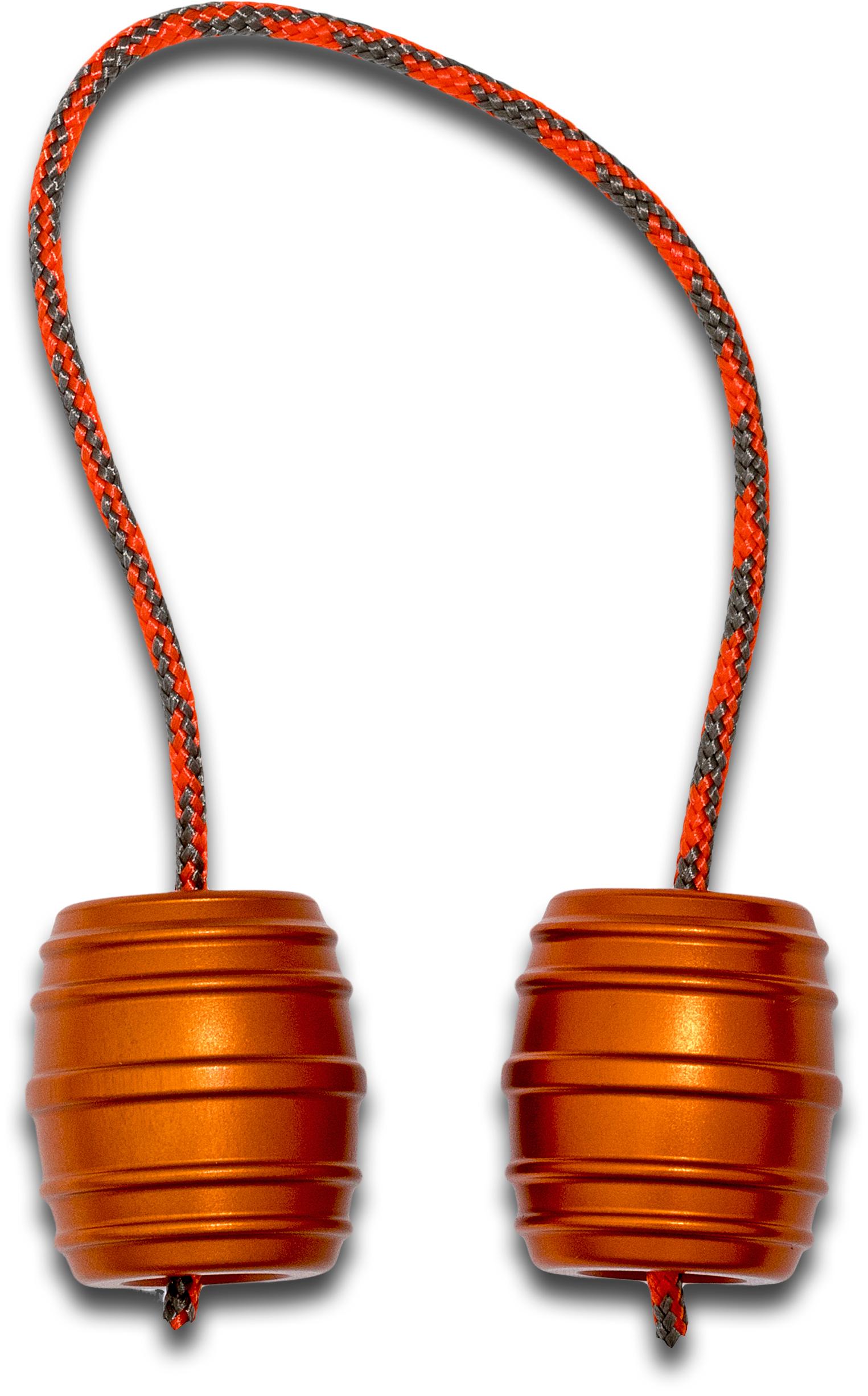 Monkey Fist Begleri KnifeCenter Exclusive Orange Aluminum Monkey Barrels Begleri