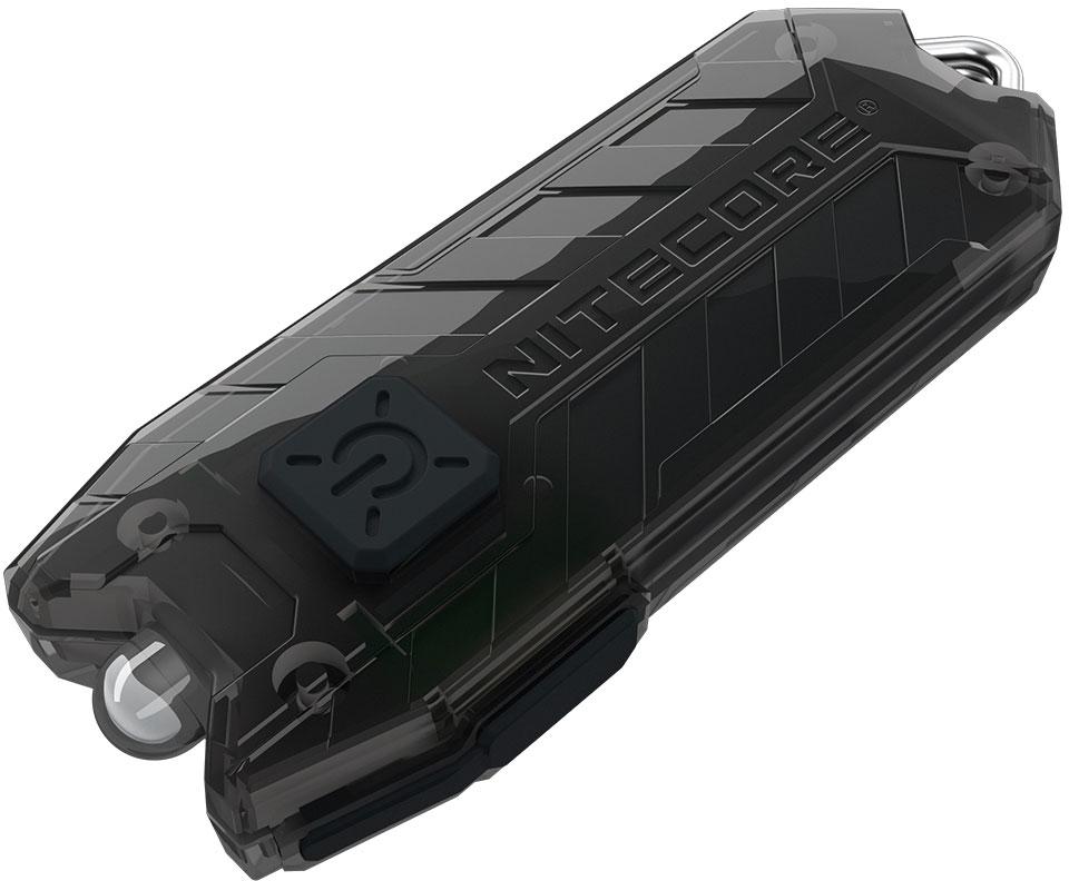 NITECORE Tube Rechargeable Keychain LED Flashlight, Black, 45 Max Lumens