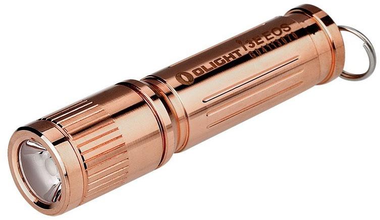 Olight i3E-Cu Copper Keychain LED Flashlight, 120 Max Lumens (1 x AAA)