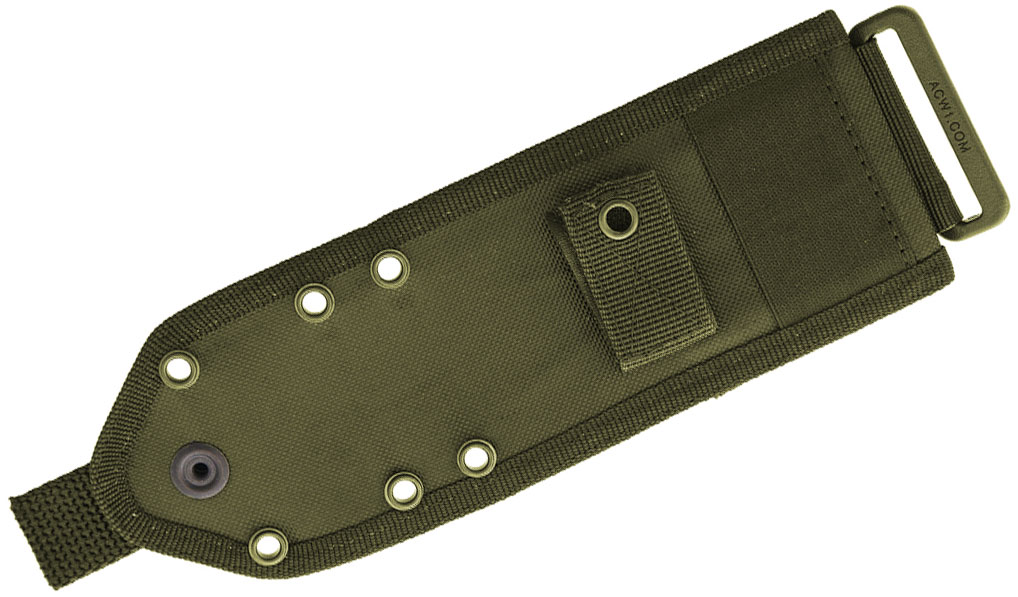 ESEE Knives ESEE-42MB-OD ESEE-3 and ESEE-4 Cordura MOLLE Back, OD Green