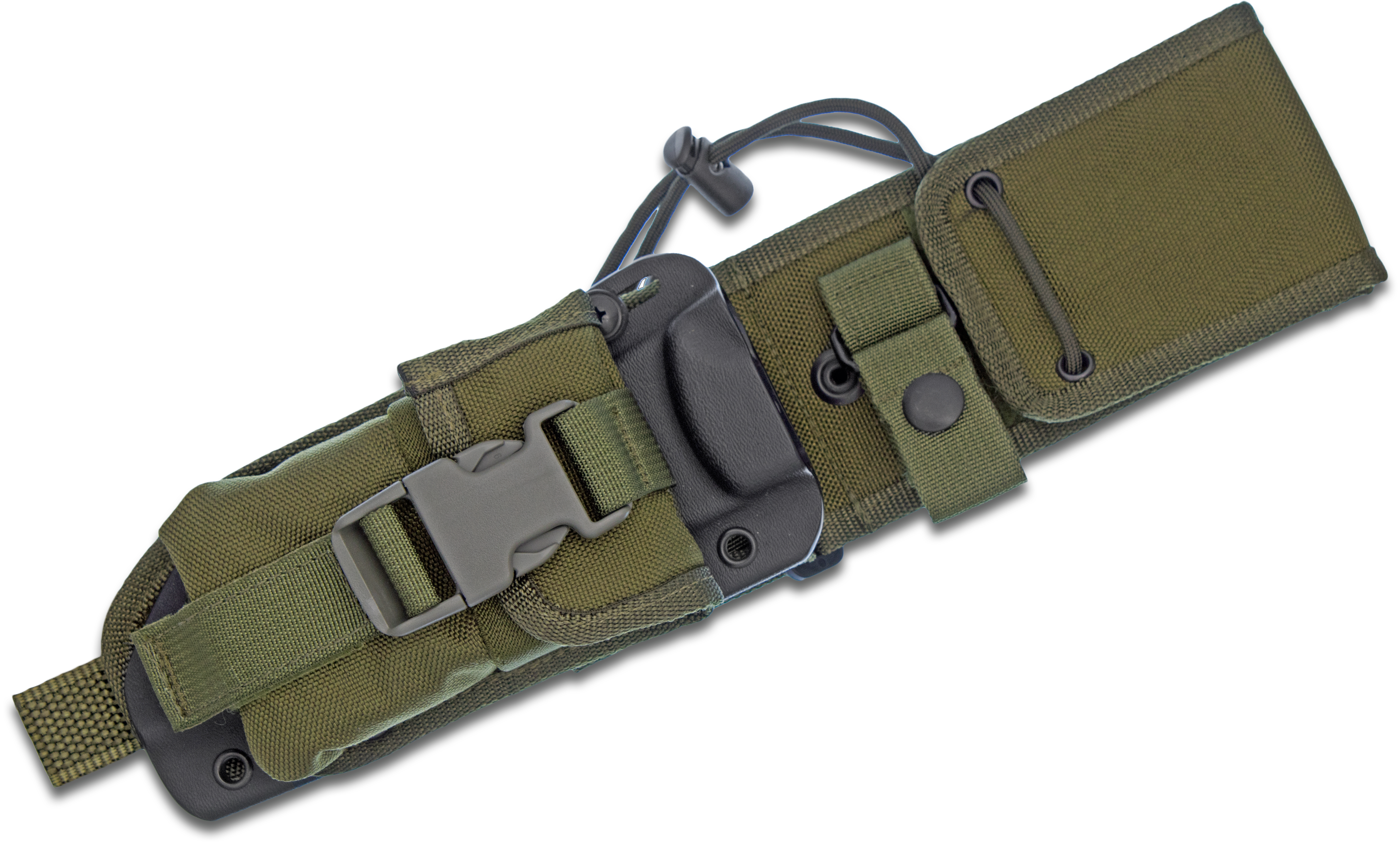 ESEE Knives ESEE-6-MBSP-OD MOLLE Back, Molded Sheath and Pouch Combo, OD Green, Assembled