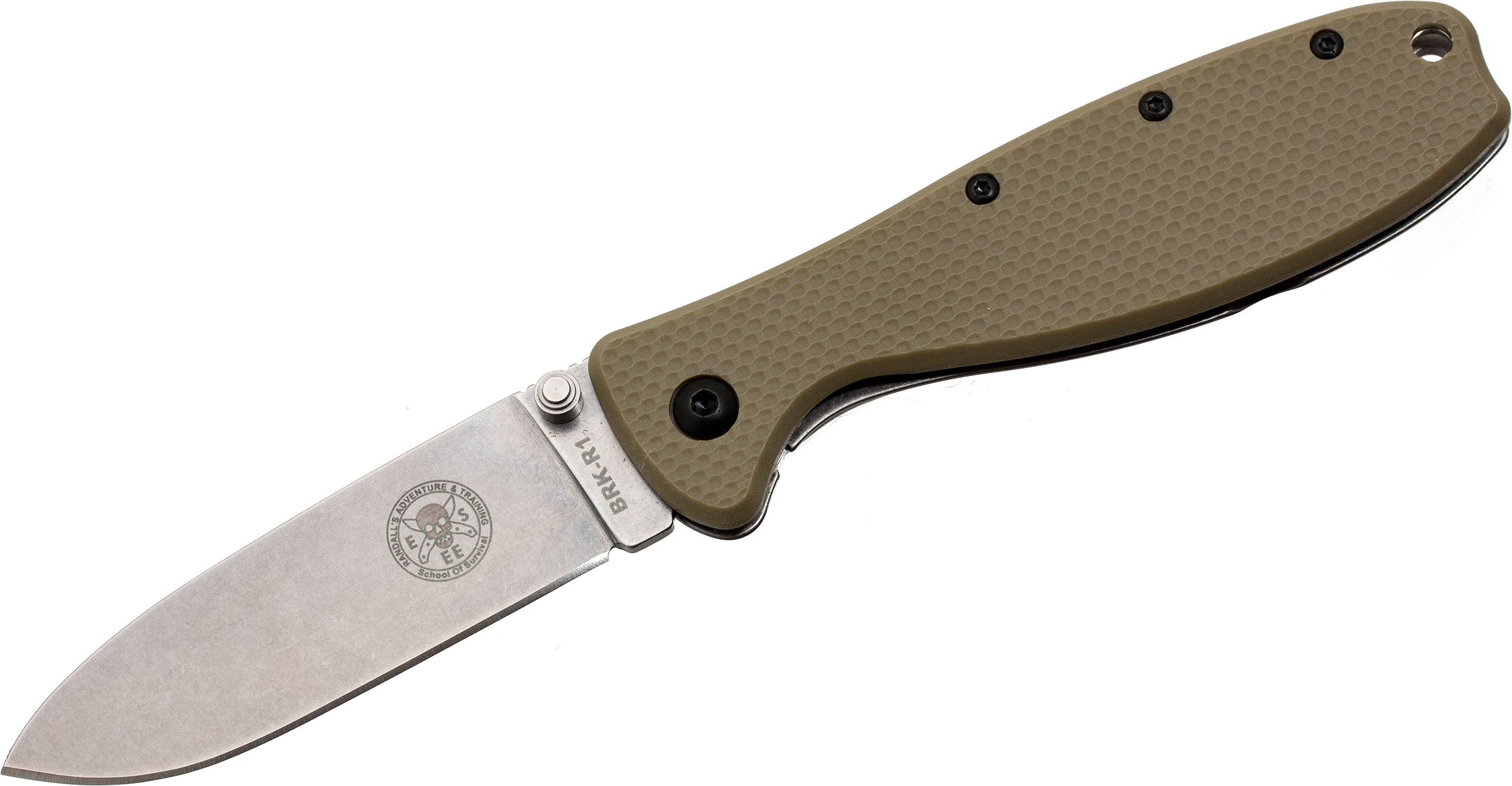 Zancudo Folding Knife 3 inch Stonewashed Blade, Desert Tan FRN and Stainless Steel Handles, Designed by ESEE